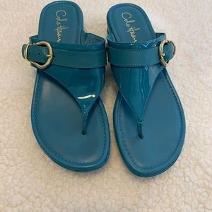 "Turquoise Cole Haan Nike Air 1 1/2"" Wedge"